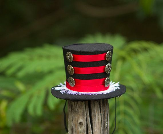 Steampunk Ring Master victorian Mini top hat by OneDreamBoutique, $25.00