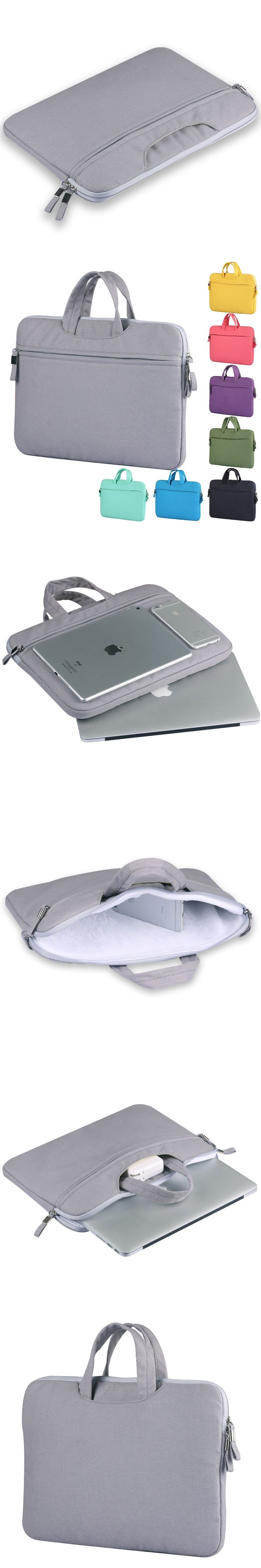 """Canvas Laptop Sleeve Case Carry Bag Cover +zipper pouch For 11"""" 13"""" 15"""" MacBook Air/Pro,Retina,Tablet,Mobile Phone"""