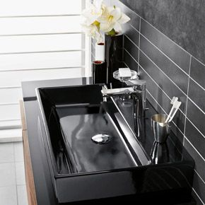 Bathroom sink in a #sleek & #matte black | Memento collection
