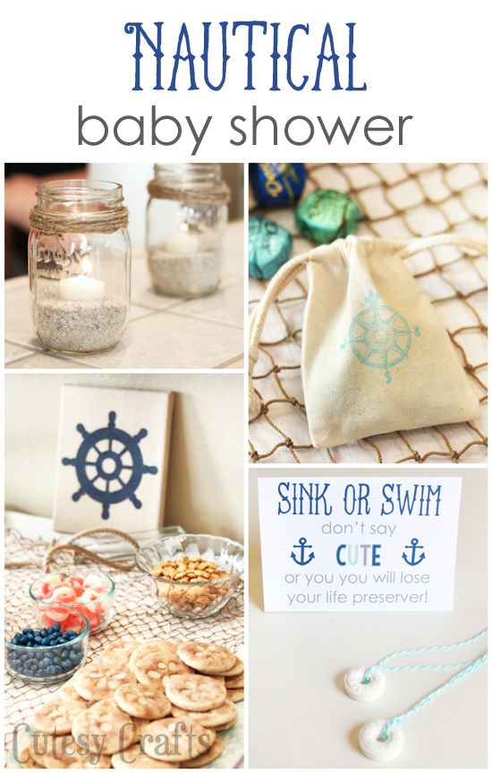 Planning a nautical baby shower? Here are 15 great nautical baby shower ideas for you to use in your planning. Great food and decoration ideas!