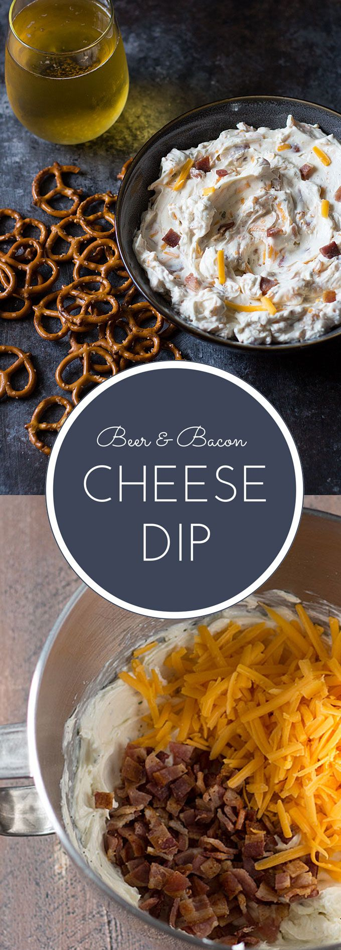 Beer and Bacon Cheese Dip -- A quick and easy appetizer perfect for game day!