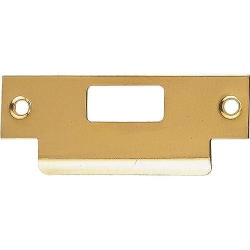 Prosource HSH-006-PS Large Lip Latch Strikes, Brass, 4-7/8