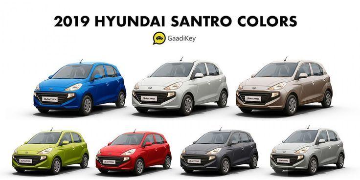 2019 Hyundai Santro Farben Weiss Beige Rot Silber Blau Grun