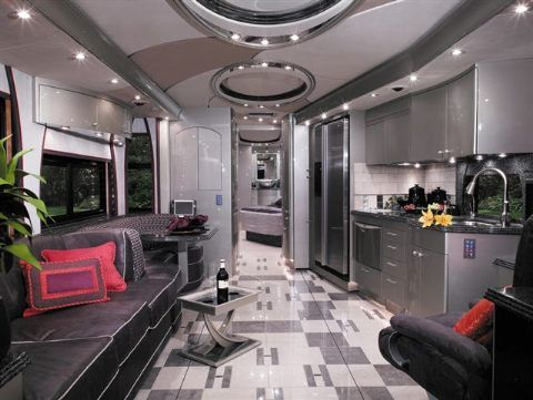 Luxury Motorhomes Interier | Luxury RV Interior | Ridin Dirty