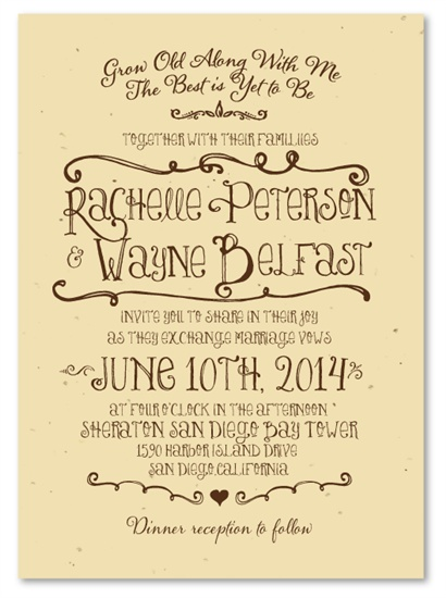 97 best Plantable Wedding Invitations images on Pinterest
