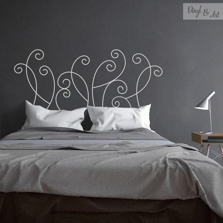 Vinilo Adhesivo Decorativo Cabeceros - Cabecero Abstracto. El dormitorio nos permite jugar con la imaginación, para hacer espacios creativos, únicos y con estilo. Uno de los elementos clave de este espacio son los cabeceros. Son una forma fantástica de dar un toque particular y personal a tu cama.  www.vinylandart.com #vinilos #adhesivos #decorativos #vinylandart #arte #diseño #inspiracion #cabeceros