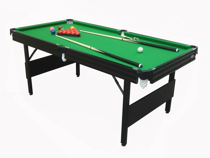 This Pool Table Has A Strong Steel Frame, The Legs Fold Down For Easy  Storage. Please See Photos Attached. This Set Includes Everything You Will  Need To ...