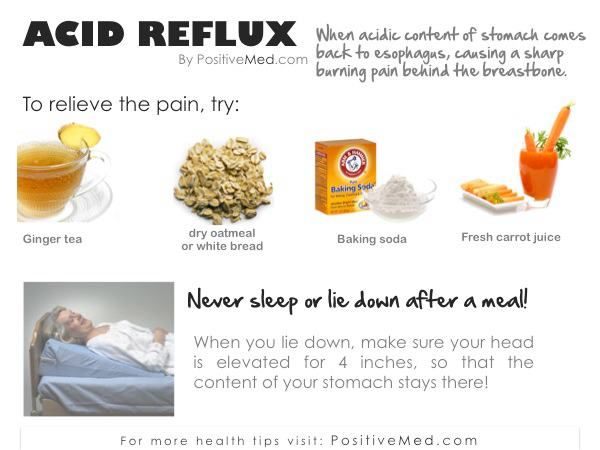 how to get rid of severe acid reflux