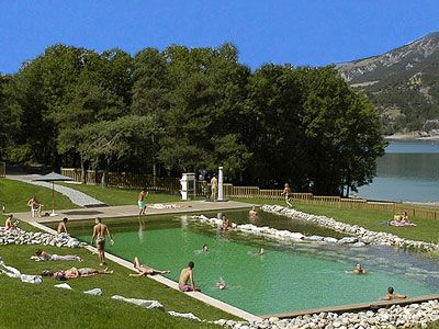 Baignade Biologique Natural Swimmingpool Camping Le Lac- Alpes de Haute Provence - France