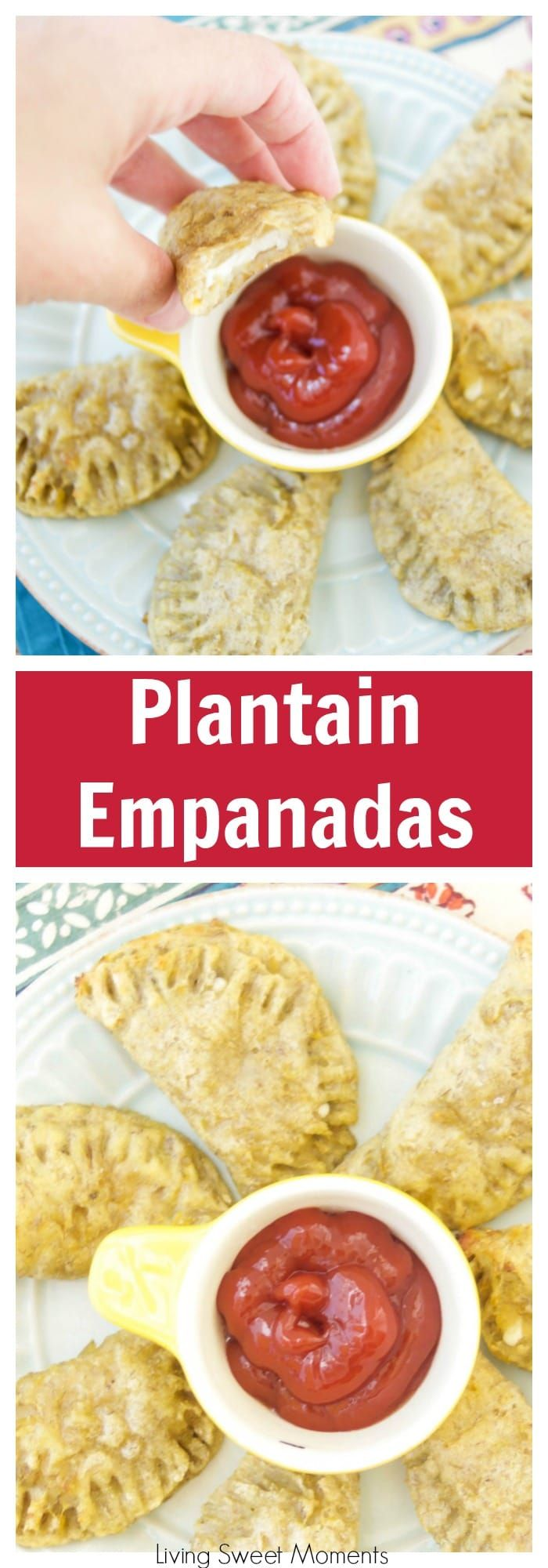 This amazing latin baked plantain empanadas recipe is filled with oozy cheese and is the perfect finger appetizer to any party or celebration. More delicious recipes at livingsweetmoments.com  via @Livingsmoments