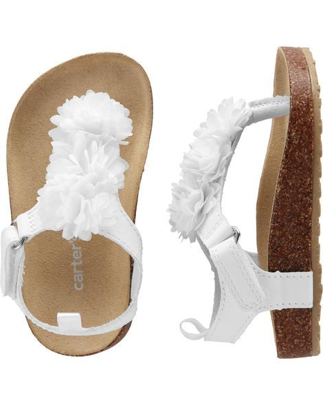 70952827c8c5 Kid Girl Carter s Floral Cork Sandals from Carters.com. Shop clothing    accessories from a trusted name in kids