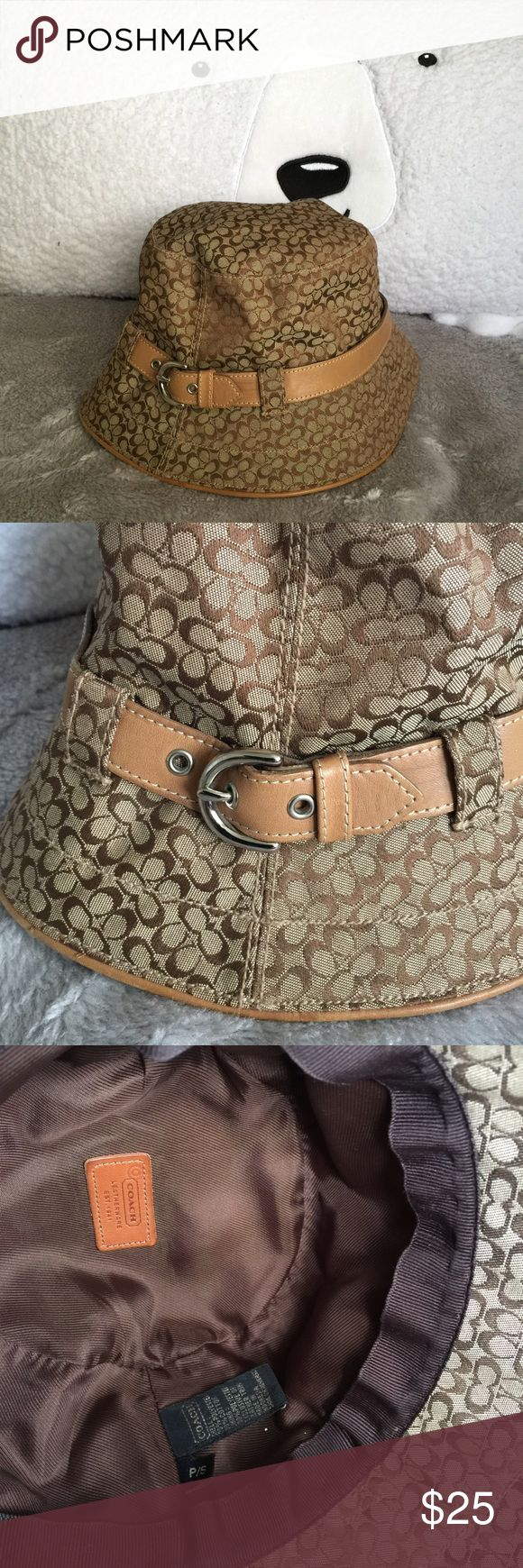 Coach hat Authentic coach hat this was bought awhile ago I believe used once only and got stuck in the closet no tags Coach Accessories Hats