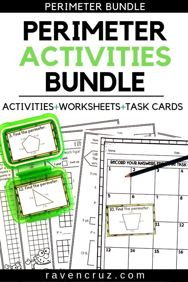 hight resolution of Perimeter Worksheets and Task Cards - Summer Themed   Elementary math