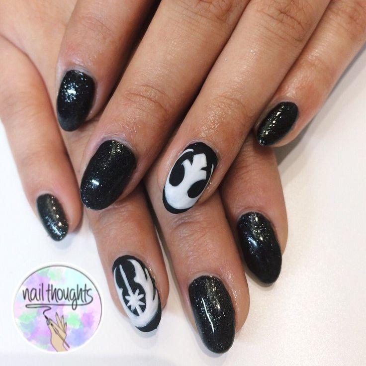 Nail Thoughts - Santa Monica, CA, United States. Star Wars gel nails! - Best 25+ Star Wars Nails Ideas On Pinterest Diy Nails Tutorial