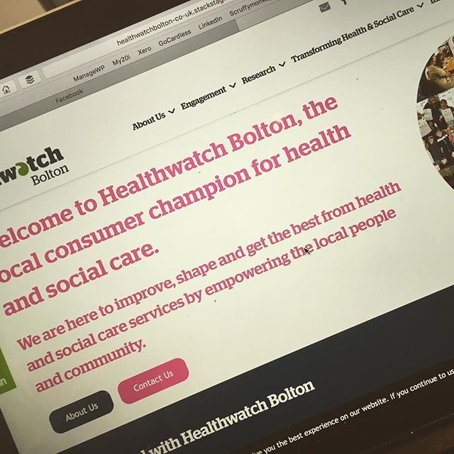 Another Day Another Deadline This Time For Healthwatch Bolton And Healthwatch Wigan And Leigh Looking Good Webdesign Website Hea Wigan Web Design Bolton