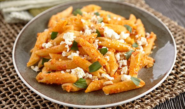 Red Pepper & Almond Pesto Penne - In the Kitchen with Stefano Faita