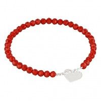 Celebrate - Red crystals with heart., bransoletki - inne