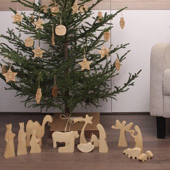Moderne Krippe Holz-Krippe Satz-geölt Holz Krippe Krippe Szene Krippe Figuren Krippe Kontur ______________________________ Dies ist unsere exklusive 15 Stück Holz Krippe. Es wurde entwickelt, um Join Tradition und modernes minimalistisches Design, hergestellt mit viel Liebe und