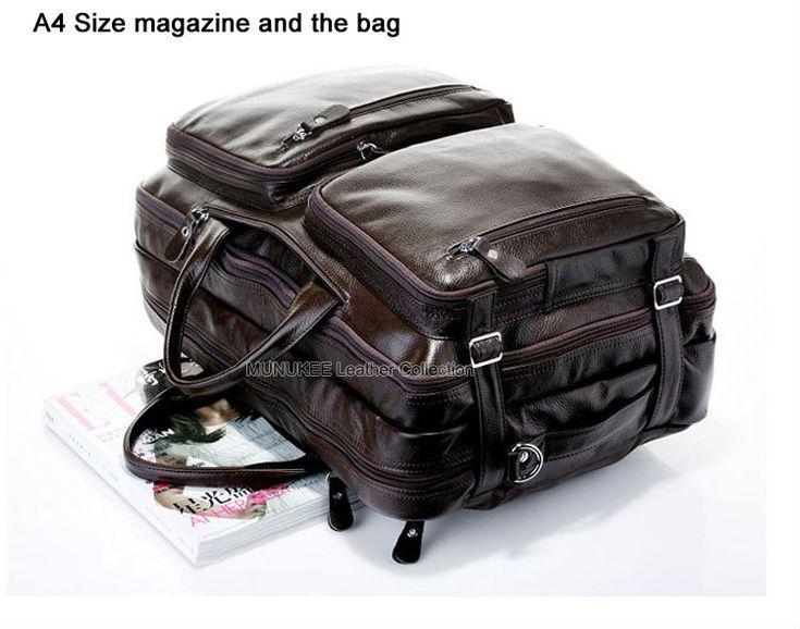 Мода многофункциональный полное зерно из натуральной кожи дорожная сумка мужская кожаный багаж дорожная сумка вещевой мешок большая сумка выходные сумка купить на AliExpress