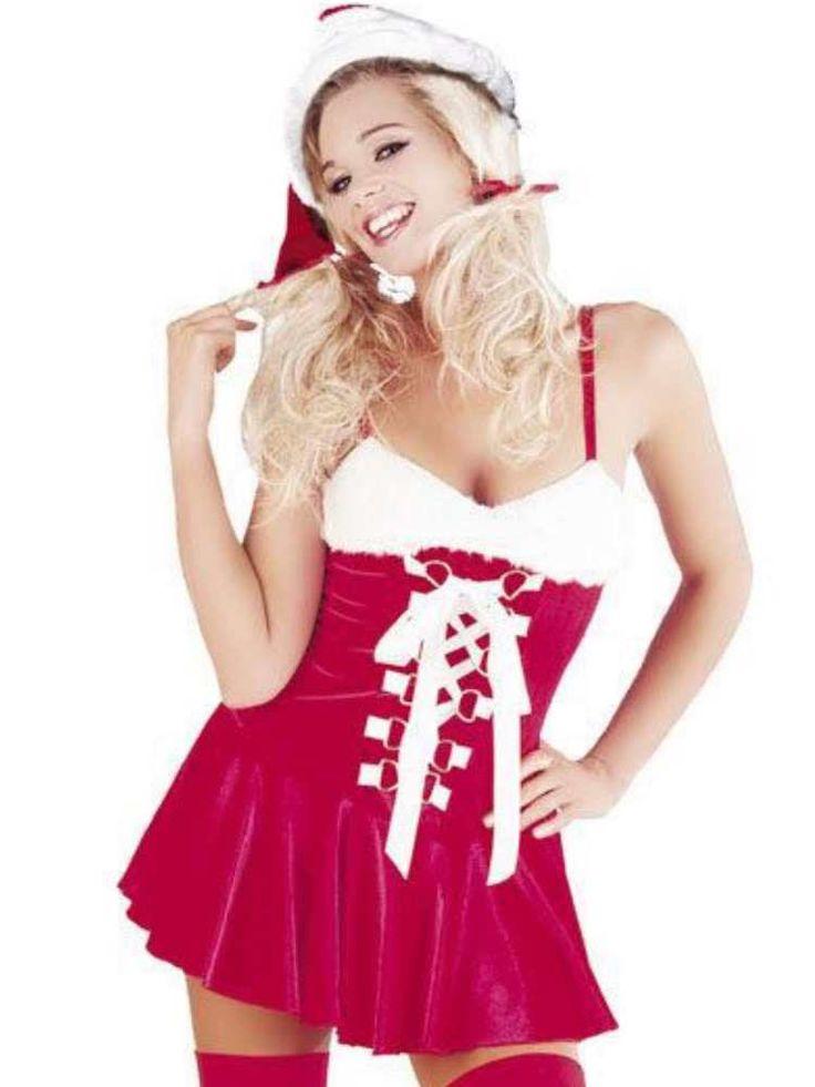 New Ladies Santa Dress & Hat 8 - 10, 12 - 14 & 14 - 16 Fancy Dress Christmas