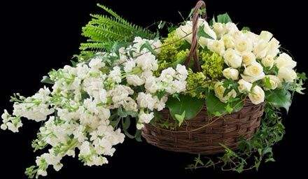 Sympathy basket arrangement