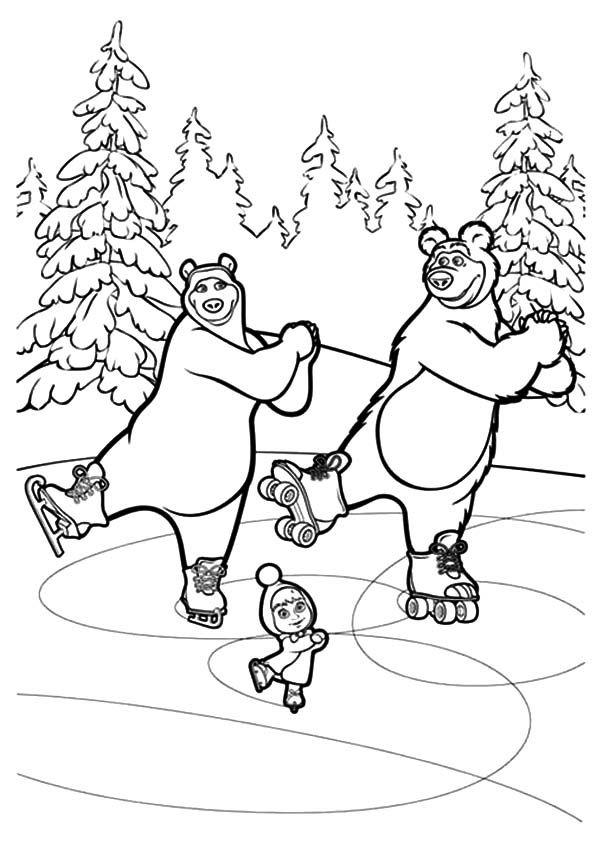 pintar masha e o urso | desenhos para pintar | Pinterest