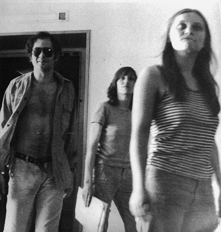 Baader, Ensslin und Monhaupt in Stammheim: Foto des Bundeskriminalamts: Andreas Baader, Gudrun Ensslin und Brigitte Mohnhaupt am 5. Juli 1976 in Stuttgart-Stammheim.