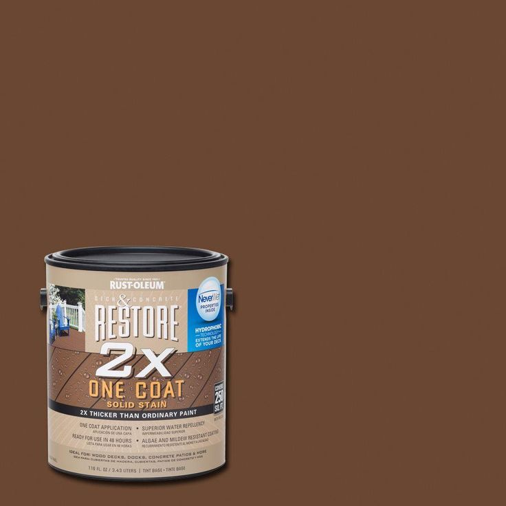 Rust-Oleum Restore 1 gal. 2X Russet Solid Deck Stain with ...