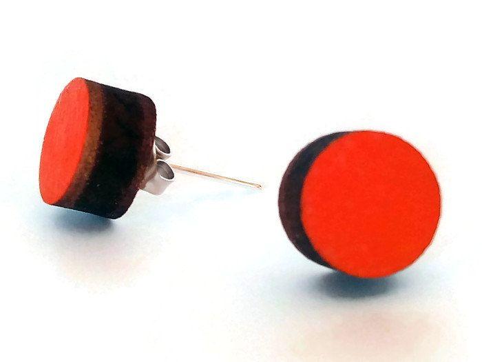 Now selling: Laser cut wood orange stud earrings,hand painted wood earrings,wood stud earrings,orange earrings,orange jewelry,colorful earrings https://www.etsy.com/listing/254909688/laser-cut-wood-orange-stud-earringshand?utm_campaign=crowdfire&utm_content=crowdfire&utm_medium=social&utm_source=pinterest