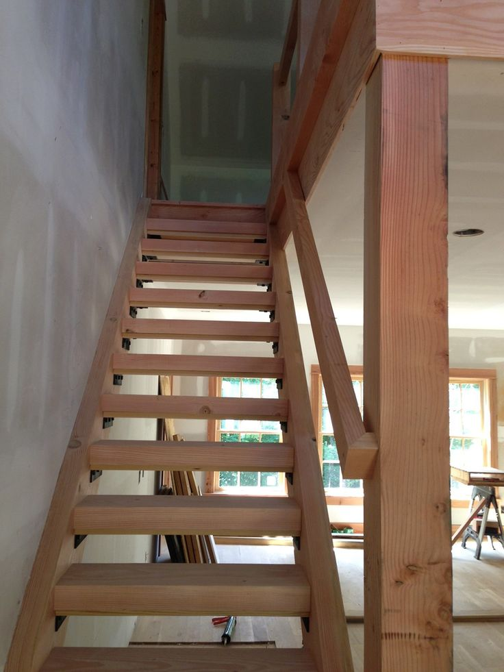 Basement Stairs Design: 10 Best Douglas Fir Open Stairs Images On Pinterest