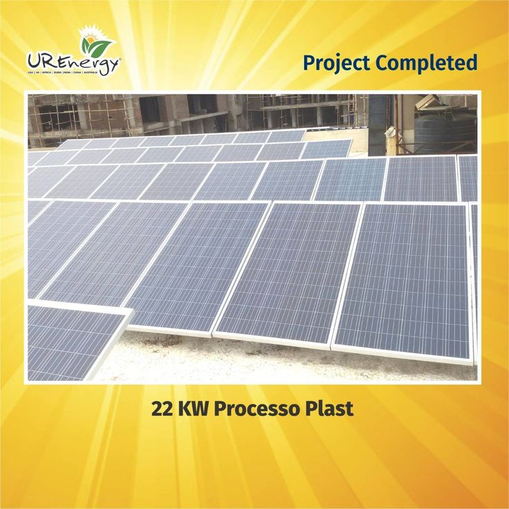 UR-Energy proudly announced that company successfully completed the project of 22 KW Processo Plast. #UREnergy #Project #Solar #SolarProject