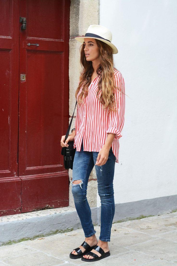 Zara shirt and sandals