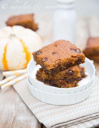 Pumpkin Chocolate Chip Cake Bars Recipe on Yummly. @yummly #recipe