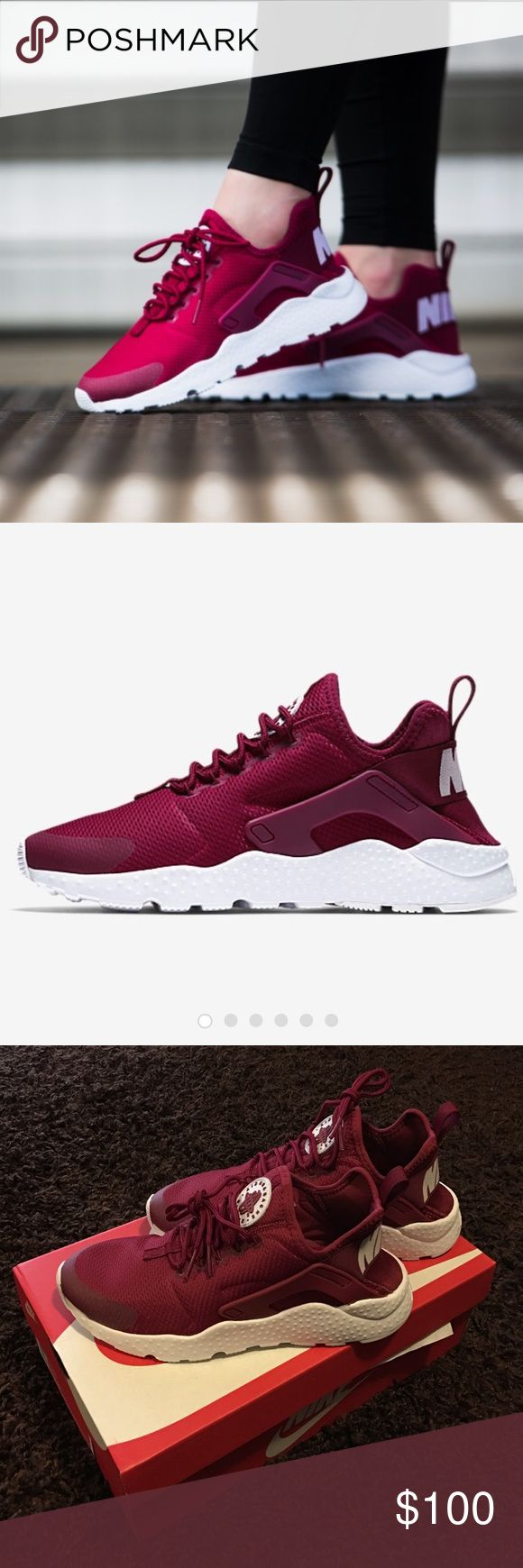 Nike huaraches Maroon Nike huaraches Nike Shoes Athletic Shoes