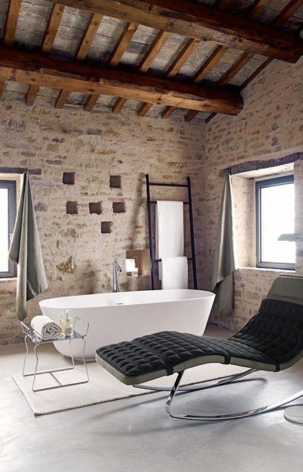 The bathtub -like the style/shape. Casa Olivi, Le Marche, Italy. TravelPlusStyle.com