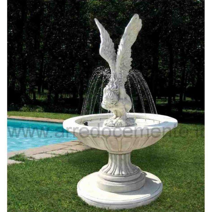 Fontana da giardino in cemento e polvere di marmo