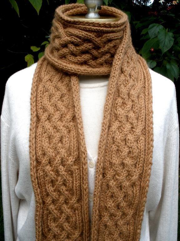 Knitting Ideas | Project on Craftsy: Sesame Saxon Braid Scarf