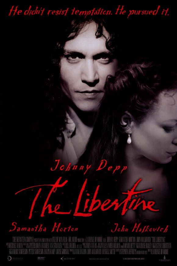 Johnny Depp The Libertine Movie Reproduction Poster