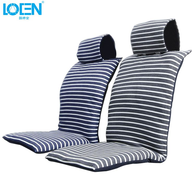 2017 New Cotton car seat cushion set Comfortable soft fabric seat covers blue&gray stripe for audi toyota hyundai bmw vw ford