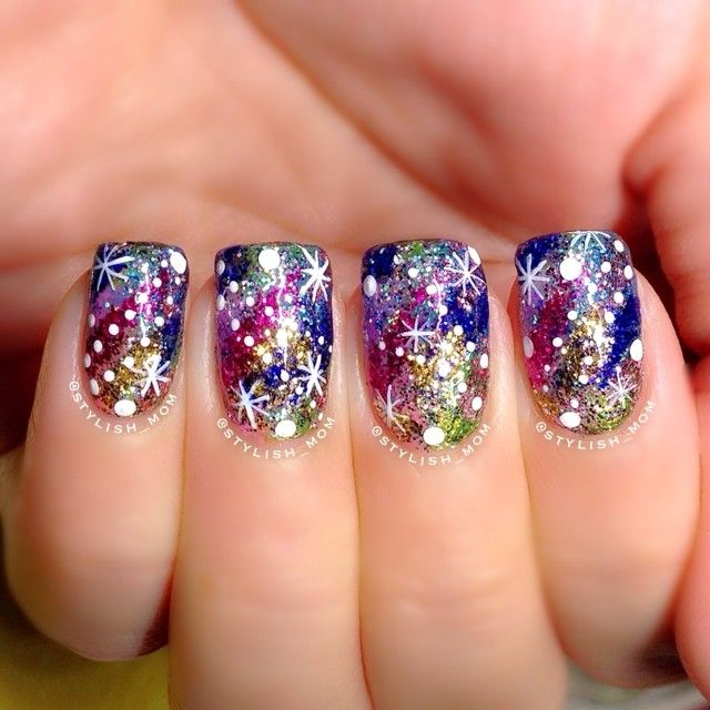 27 best Fireworks Nail Inspiration images on Pinterest | Nail ...