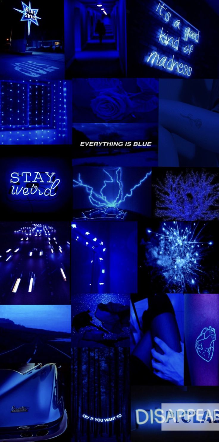Blue aesthetic Dark blue aesthetic Electric blue aesthetic
