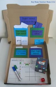 A sight word practice box: this works well for centers or assign to students who finish tasks early.