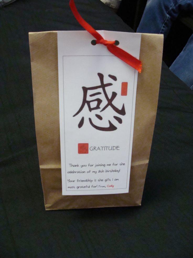 Karate birthday party goodie bag