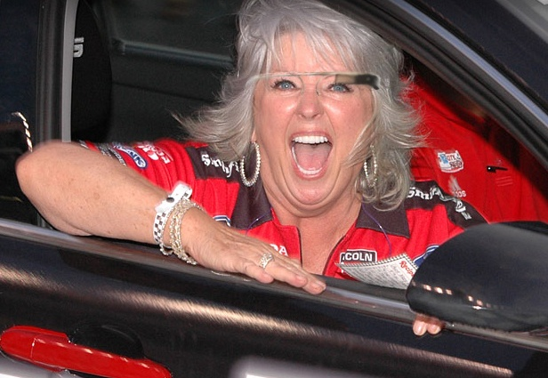 Paula Deen with Google Glasses. Just because we can.Families Parents, Celebrities News, Celebrities Fashion, Daily Dots, Celebrities Pinners, Blends Families, Today Pinterest, Paula Deen, Deen Racism