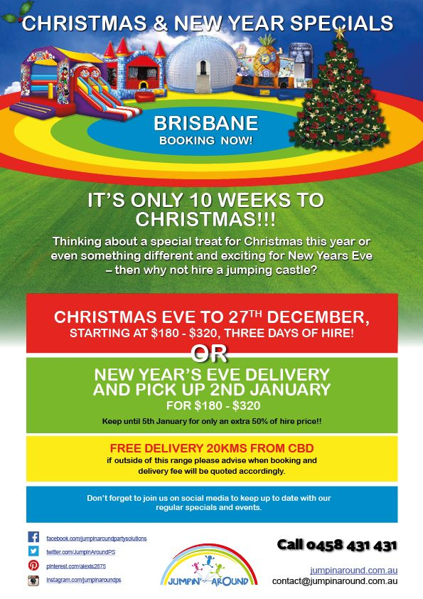 Brisbane Christmas and New Year Specials