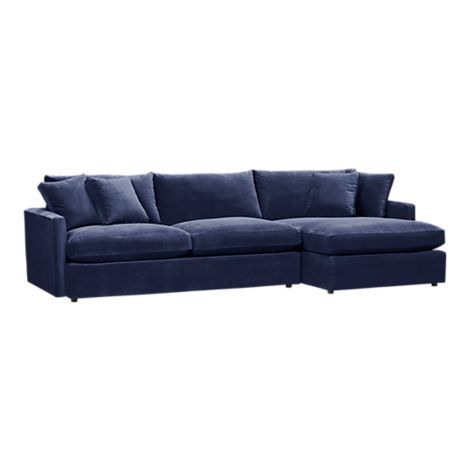 Navy Sofa In Kid Friendly Fabric Living Room Ideas