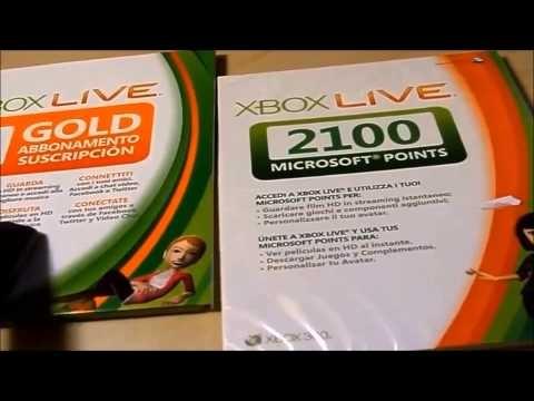 Unboxing My Free Microsoft Points e 3 meses de Xbox Live Gold