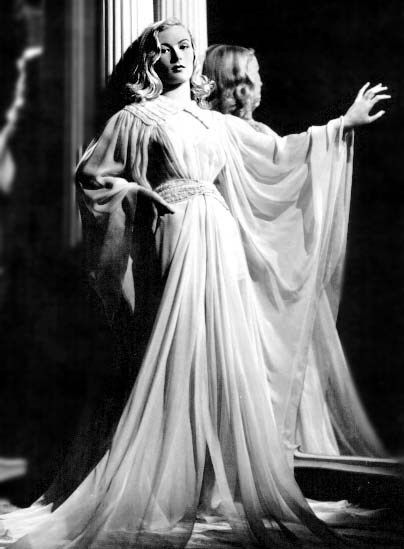 Veronica Lake she wore the most beautiful gowns. She was only four feet eleven and one half inches tall. She often made films with Alan Ladd who was only five foot six inches tall.