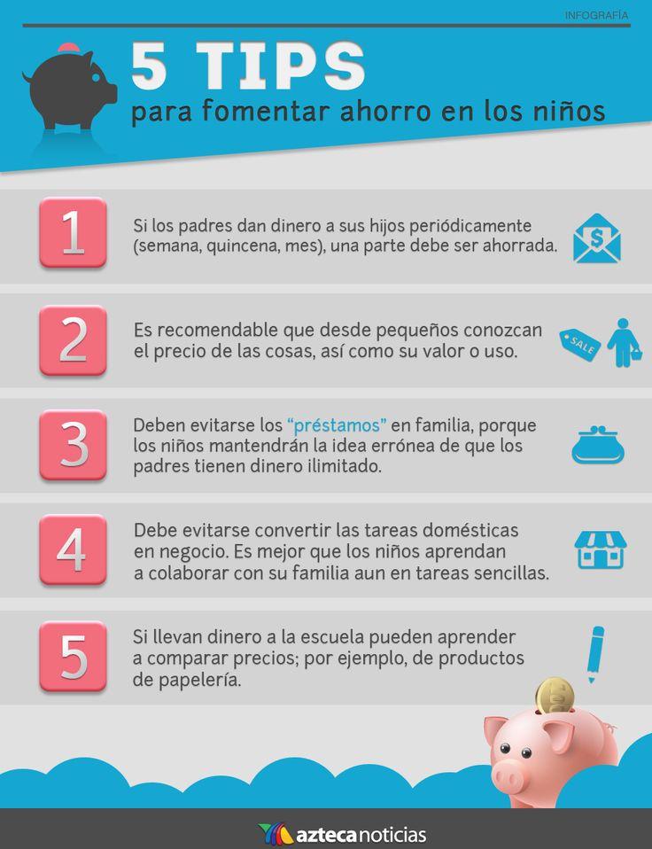 5 tips para fomenter el ahorro en niños
