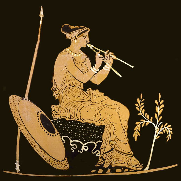 """So many of the  Ancient #GreekPottery treasures are scenes of ancient musical instruments. #Music was considered 'therapia"""". See and learn more on private #AthensTours by Archaeologous.com (photo by Claire Catacouzinos)"""